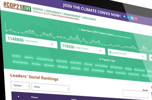 İklim Değişikliği Zirvesi anlık olarak COP21Live'da