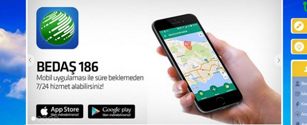 BEDAŞ 186 mobil uygulaması Android ve iOS'ta