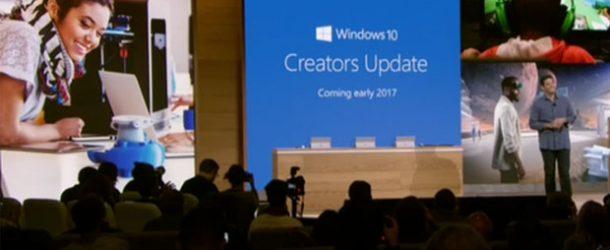 Windows 10 Creators Update geliyor