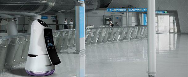 LG'den havalimanı rehberi ve temizlik robotu