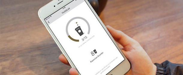 Starbucks uygulamasını 3 ayda 200 bin kişi yükledi