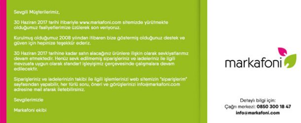 Online alışveriş sitesi Markafoni kapanıyor