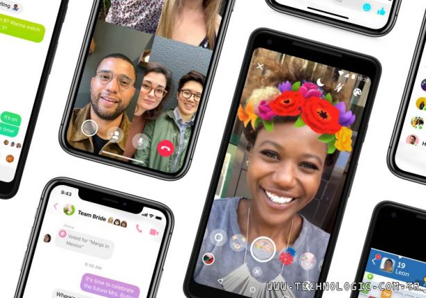 Facebook Messenger, Instagram, Whatsapp