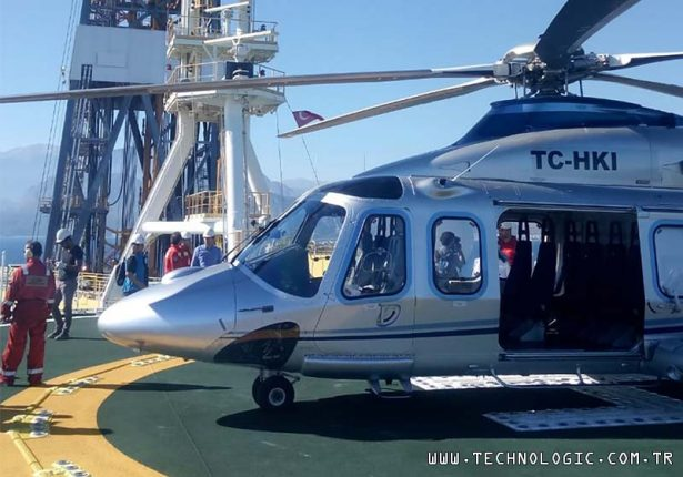 Fatih sondaj gemisi Kaan Air AW139 helikopterleri