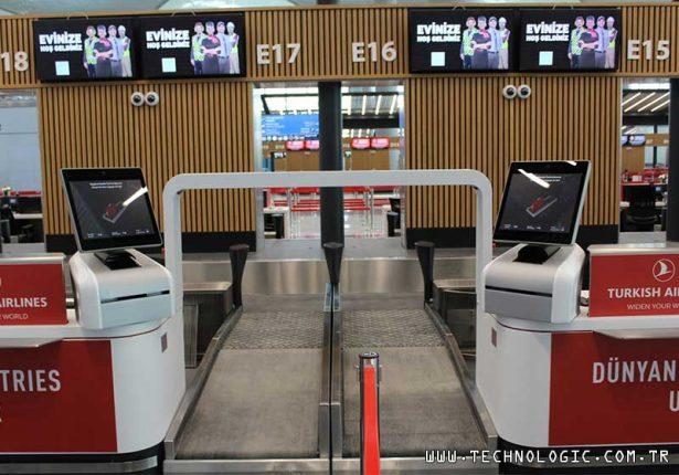 İstanbul Havalimanı Emse Kiosk Self Bag Drop Kiosk Self Check-in Kiosk