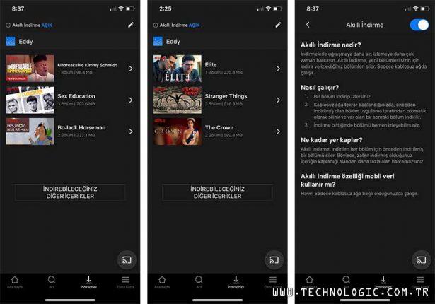 Netflix Akıllı İndirme özelliği Android'ten sonra iOS'a geldi