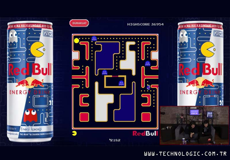 PAC-MAN, red bull