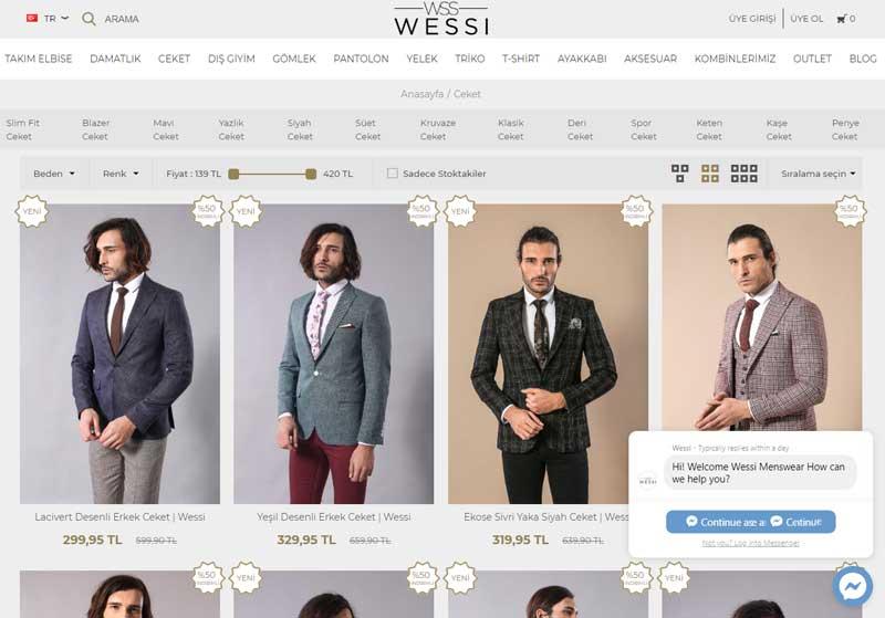Wessi erkek ceket modelleri