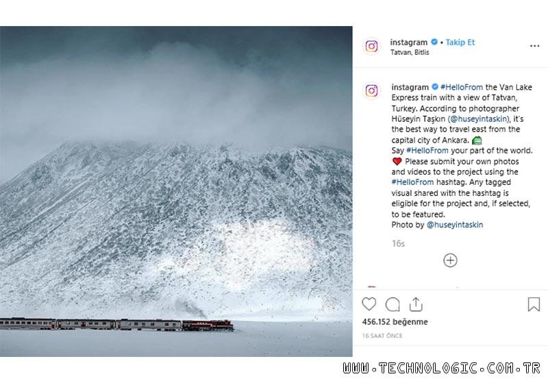 Instagram Van Gölü Ekspresi