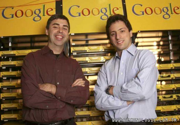 Google kurucuları Larry Page ve Sergey Brin