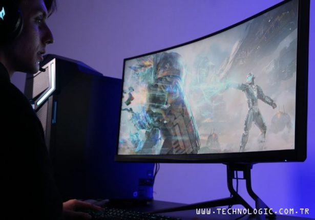 Kavisli monitörler Acer Predator X35