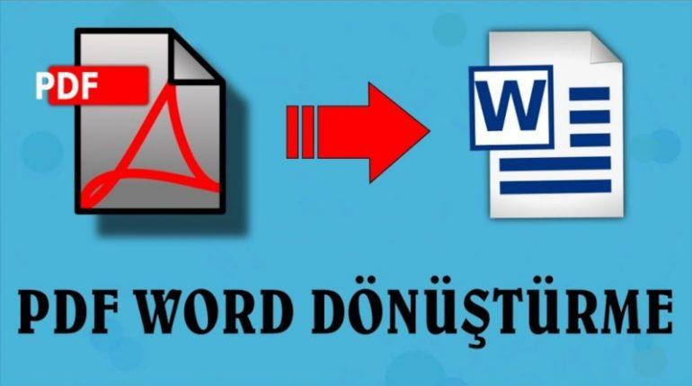 Pdf'den Word'e Dönüştürme